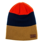 Born2Ride - Beanie - Brown/Navy/Orange