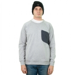 Colour Wear - Cut Crew - Grey Melange