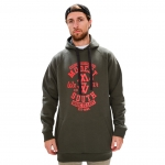 Modes South Wear - Classic Hoodie - Green/Red