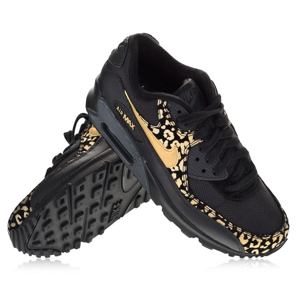 nike air max zwart goud panter